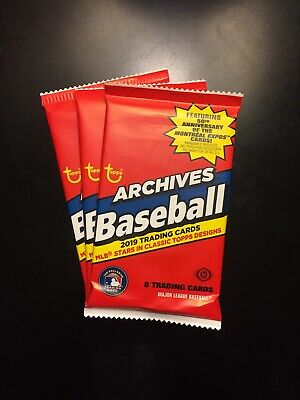 2019 Topps Archives HOBBY Baseball BASE HIGH-NUMBER (3x) Hot Pack LOT