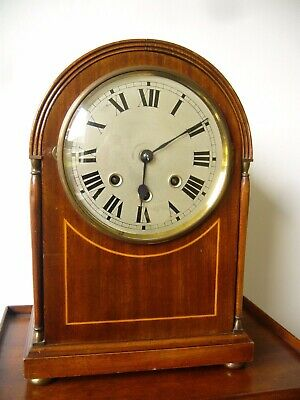 Large domed top English mahogany cased Westminster Chiming Clock