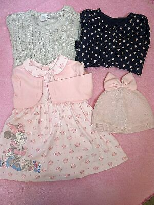 Bundle of baby girl clothes 3-6 month.Disney,Minnie mouse ,Next,Baby,George.