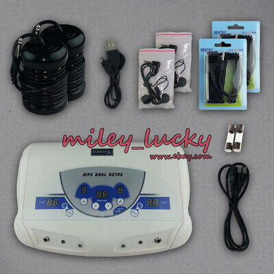 Dual Ionic Professional Cell Detox Machine Ion Foot Bath Spa Cleanse System