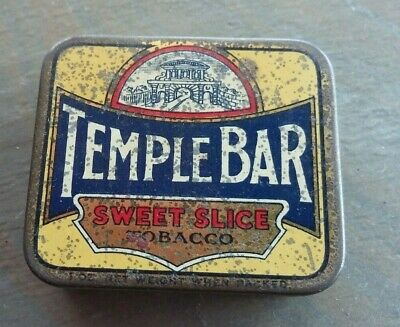 Temple Bar-British Australasian Tobacco Co-1oz Sweet Slice Tin