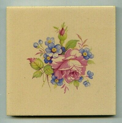 "Rare transfer printed 4""sq tile designed by Reginald Till, 1959"
