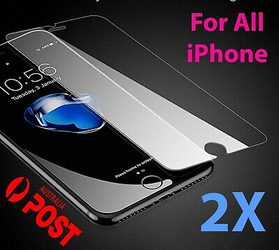 2x Tempered Glass Screen Protector iPhone 8 7 6s 6 Plus X XS XR XS MAX 11 PRO 4S