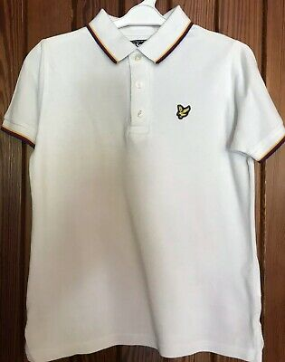 Kids Ivory Lyle & Scott Short Sleeved Polo Top/Shirt - Age 8/9yrs