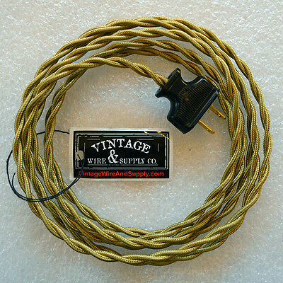 Harvest Wheat Rewire Lamp Cord Cloth Twisted Wire - Fan Wire - Antique Wire Cord