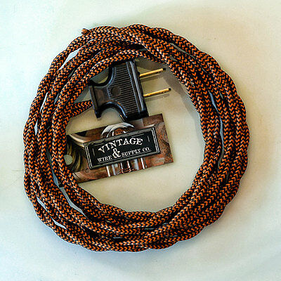 Copper Kettle Rewire Lamp Cord Cloth Twisted Wire - Fan Wire - Antique Wire Cord