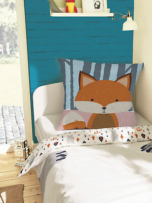 Nursery Decorative Pillow Covers Fox In Forest Throw Cushion