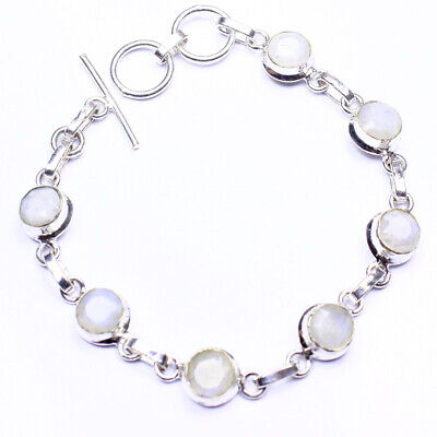 Moon Stone Fashion Jewelry .925 Silver Plated Bracelet  A02136
