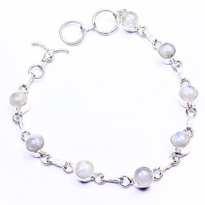 Moon Stone Fashion Jewelry .925 Silver Plated Bracelet  A02137