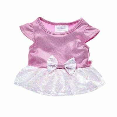 NEW BABW Build A Bear Pink Sequin Knit Sweater Top Girls 022816 $8.50 Sparkle