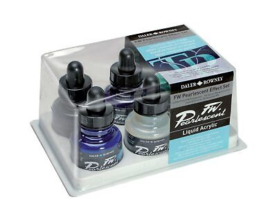 Daler Rowney FW Artists Acrylic Peal Effect Set of 6