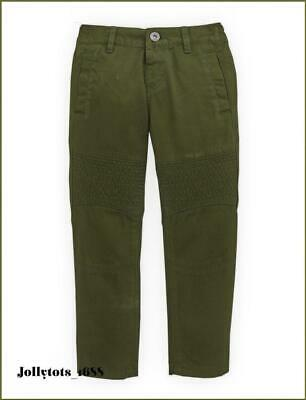 BNWT Boys Khaki Green Biker Trouser 18-36 Months V By Very Detailed Bottoms