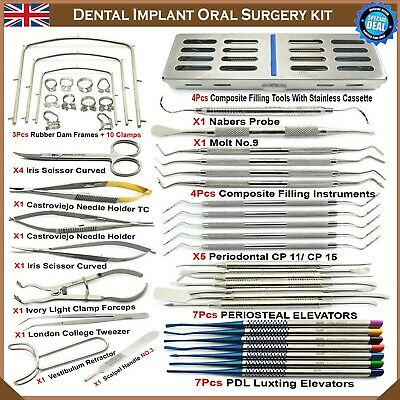 Surgical Dental Implant Oral Advanced Surgery Kit PDL Periosteal Elevators New