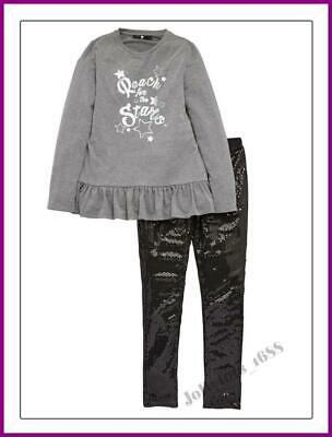 Quality V by Very Girls Sequin Legging & Long Sleeved Top Set Ages 12-15 Years