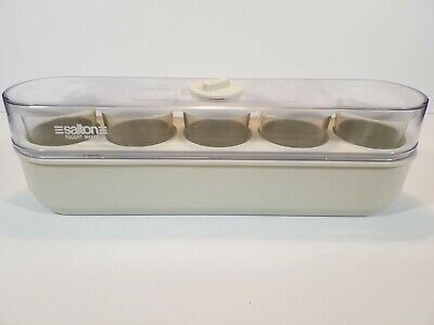 Salton Maxim Automatic Yogurt Maker 5 Glass Vintage Pyrex Cups Timer GM-5W