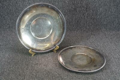 """Set Of Two Silver Plated Plates 10.25"""" & 11.25"""" ART S Co & Poole Silver"""