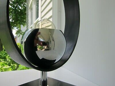 Mid Century Modern Vintage Chrome Eyeball Table Lamp  - Robert Sonneman Style