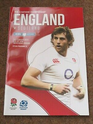 England Scotland Rugby Union 6 Nations Twickenham Feb 2013 Match Programme
