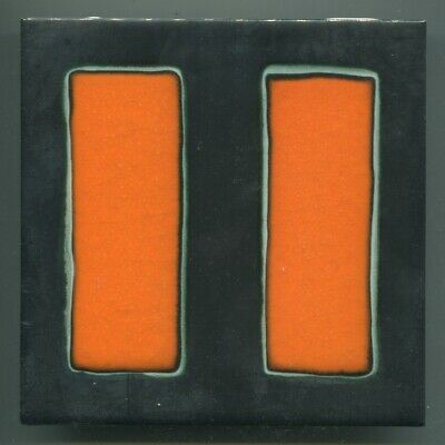 "Screen printed 6""sq abstract tile by Packard & Ord (Marlborough Tiles) ,1968"