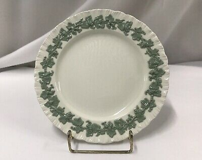 Wedgwood Queensware Celadon On Cream Salad Plate(s) Shell Edge