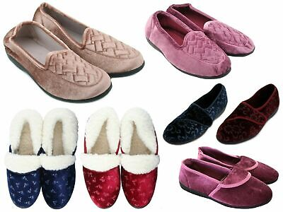 Ladies comfy warm slippers, choice of design & size  Slumberzzz etc NEW