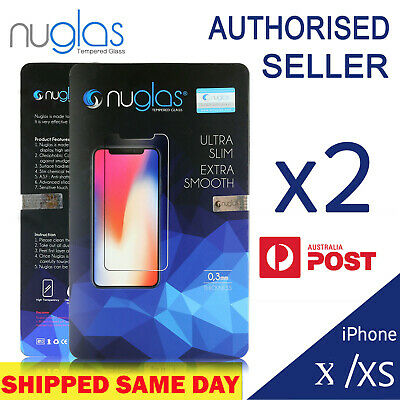 2x  Genuine NUGLAS Tempered Glass Screen Protector for Apple iPhone 11 /11 Pro