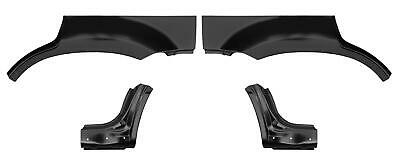 With Holes 01 07 Escape 4Pc Dog Leg /& Arch Panel Set Upper Ford Mercury Mariner