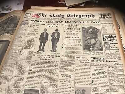 Old August 4 1932 Newspaper Moxley Hanging Barnett Glass Tyres ad Joan Crawford