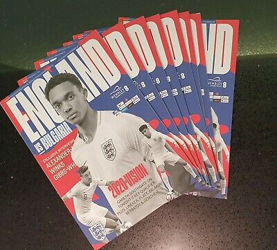 England vs Bulgaria EURO 2020 QUALIFIER PROGRAMME Wembley 7th September 2019