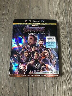 Avengers Endgame 4k + Bluray + Digital w/ Slipcover BRAND NEW