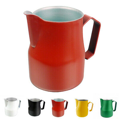 Stainless Steel Milk Frothing Jug Pitcher Long Mouth Cup Mug 350ml/500ml/750ml