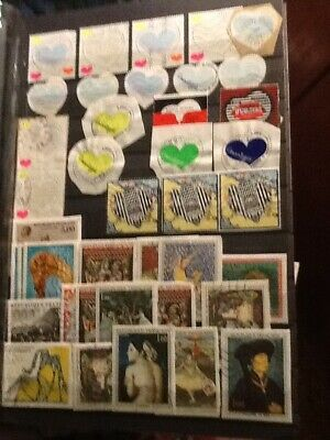 recent used france stamps,several very good values removed for sending