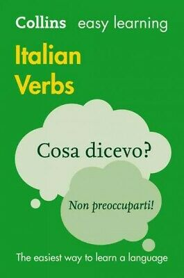 Easy Learning Italian Verbs, Paperback by Collins Dictionaries, Brand New, Fr...