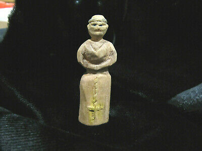 Vintage Santos Carved Wooden Religious Figure Philippine Islands
