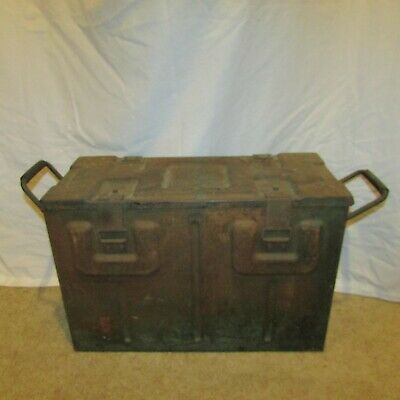 Vintage 1942 WWII Military B 166 II FK-1 Large Green Metal Ammo Box