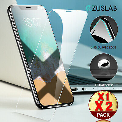 iPhone 11 Pro Max ZUSLAB Tempered Glass Screen Protector Case Friendly for Apple
