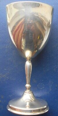Large .925 Solid Sterling Silver Goblet Cup 125 Grams 4.02 Oz Low Start NIce