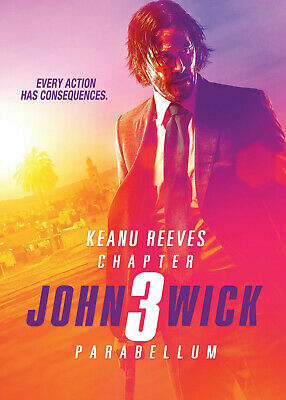 John Wick: Chapter 3 - Parabellum (2019) DVD R0 PAL - Keanu Reeves, Hitman Crime