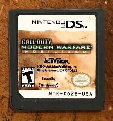 Call of Duty: Modern Warfare Mobilized Nintendo DS Game (cleaned, polished!)