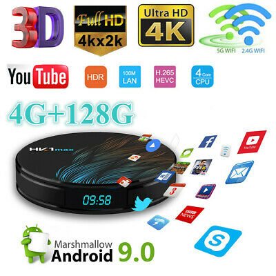 Smart HK1 MAX TV Box 4G+128G 4K BT Dual WiFi RK3328 Quad Core Android 9.0 Player