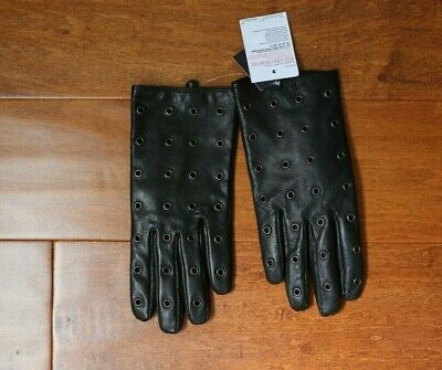 NWT Authentic TOPSHOP Leather Gloves - Black - Small/Medium