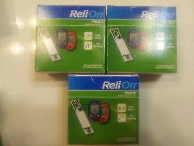 ReliOn Prime Blood Glucose Test Strips, 300 Count, EXP 02/2021+ free shipping !