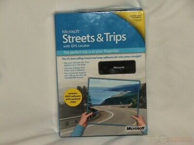 Microsoft Streets and Trips 2009 with GPS Locator & Product Key - FREE Shipping