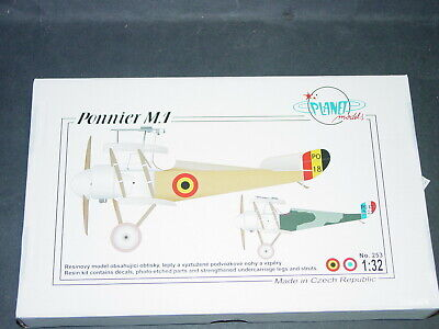 """Ponnier """"M"""" WW I Belgian /French Single Seat Fighter Planet Resins 1/32*"""
