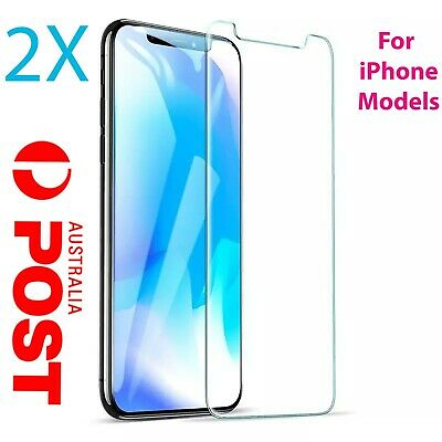 2x Tempered Glass Screen Protector for iPhone XR XS X MAX 11 PRO 8 7 6s 6 Plus 4