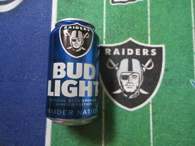 """1 Nfl 2019 ~ Limited Edition ~ """"Oakland Raiders"""" Bud Light Sealed Can."""