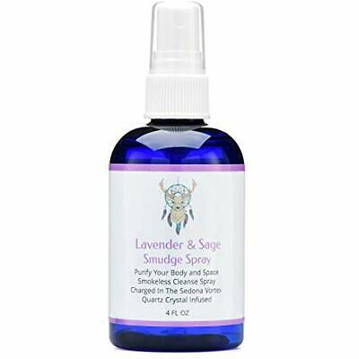 Sage Smudge Spray Lavender Cleansing Clearing Energy (4 Ounce) Liquid Blend Pure