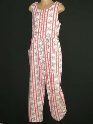 Laura Ashley Vintage Girls Spring Bouquet Striped Dungarees Playsuit,7-8 Years