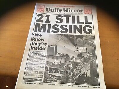 Old Daily Mirror newspaper December 29 1989 Newcastle earthquake disaster
