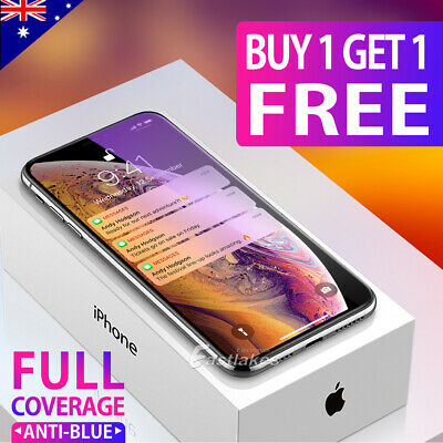 iPhone 11 Pro XS Max XR X Full Cover Tempered Glass Screen Protector for Apple